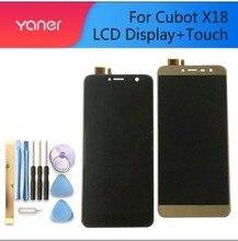 ل Cubot X18 HHD57008 FPCA VA.0 شاشة الكريستال السائل + شاشة تعمل باللمس 100% الأصلي LCD محول الأرقام لوحة زجاج استبدال ل Cubot X18 فرس