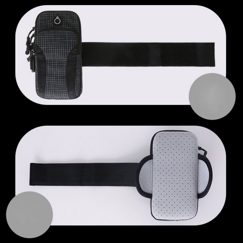 Sport Armband Case Holder Zippered Fitness Running Arm Band Bag Pouch Adjustable Joggin Workout Phone Cover Smart Phone Bag