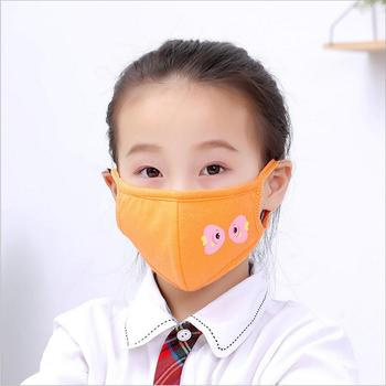 3-12 years old Cartoon boys girls kids cotton masks anti-pollution cute Children mouth mask Windproof Anti-Dust Face Masks