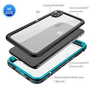 Image 5 - IP68 Waterproof Phone Case For iPhone  12 11 Pro Max X XR XS MAX Clear Silicone Shell for Apple SE 8 7 6S Plus Shockproof Cover