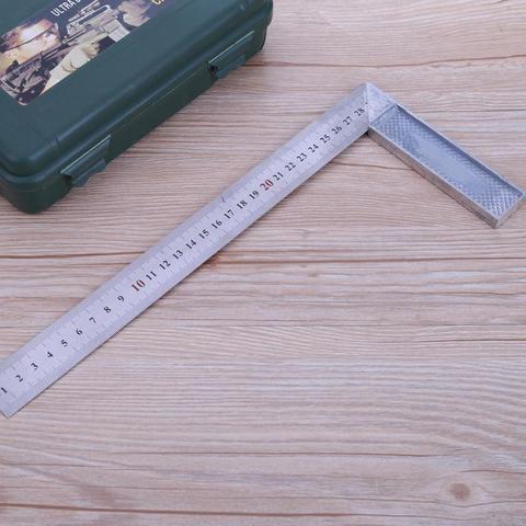 Ferramenta de Medição de Madeira Ferramenta de Medição Graus Ângulo Direito Régua Tentar Quadrado Metal Aço 30cm – 1mm Engenheiros 90