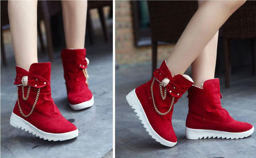 2019 Winter New Snow Boots Women's Boots Women's Tube Casual Bow Snow Boots Warm Cold Burning Feet Women's Boots Cotton Shoes 74