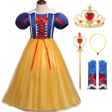 Fancy Dress for Little Girl Christmas Dress Kids Halloween Snow White Princess Costume Beautiful Girls Party Dress up 1 3 5 6 7y(China)