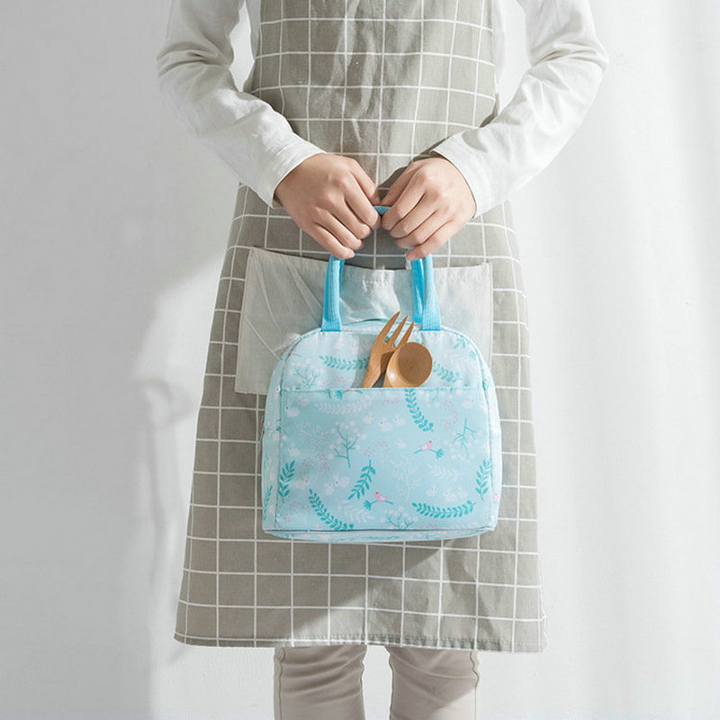 Fresh Simple New Style Waterproof Hand Insulated Bag Lunch Bag Thermal Bag Bento Box Bag Thick Lunch Bag