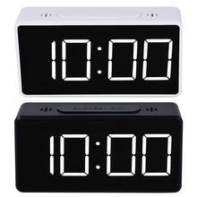 Digital Alarm LED Clock Snooze Table Clock Electronic Clock Desk Alarm Clock USB Timer