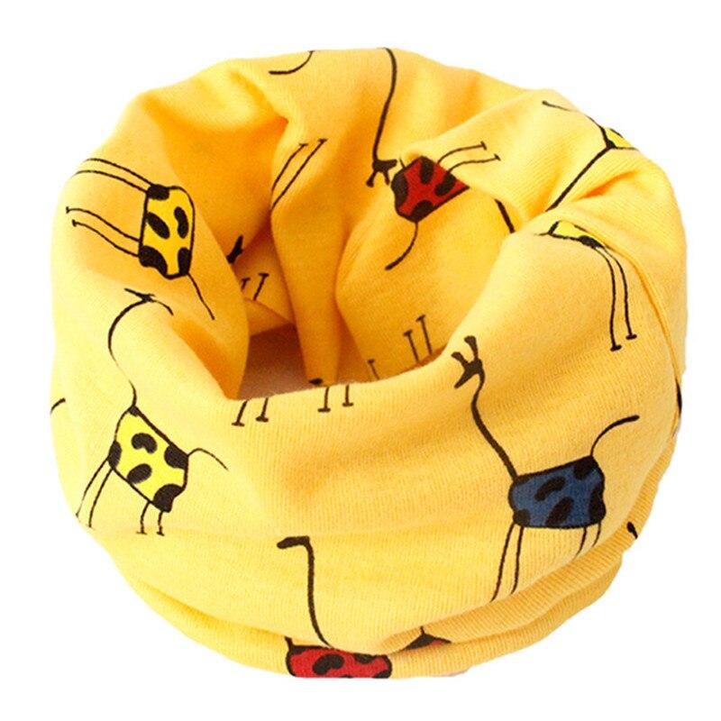 Весенний детский хлопковый шарф, теплый шарф для маленьких детей, осенне-зимние шарфы с героями мультфильмов для мальчиков и девочек, детский воротник с круглым вырезом, волшебный шейный платок - Цвет: 12