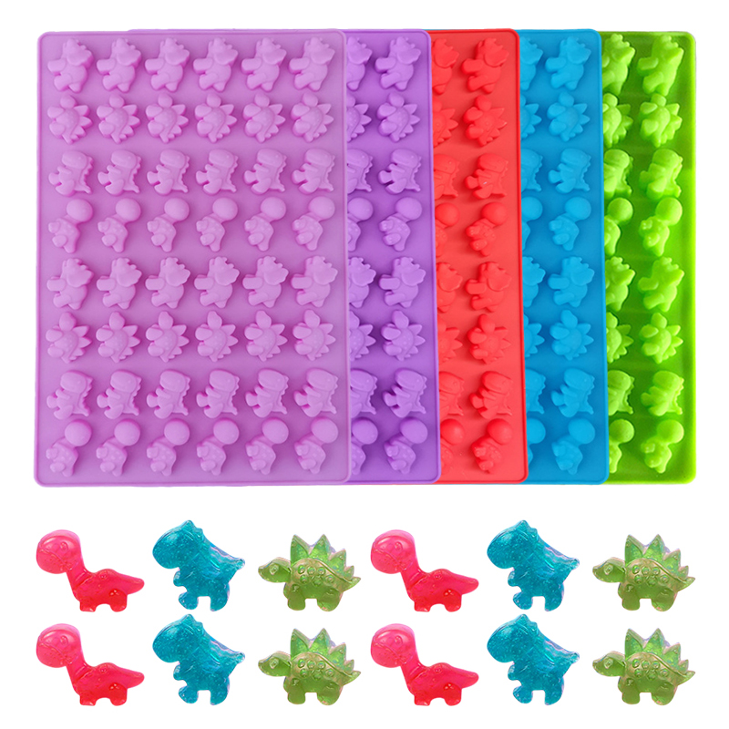 Gummy-Cake-Molds Ice-Cube-Tray Cake-Baking-Decorating-Tools Foudant-Mould Dinosaur Cavity title=