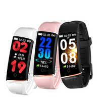 LIGE, nueva pulsera inteligente, Monitor de pulso cardíaco, presión arterial, pulsera inteligente, podómetro, reloj deportivo inteligente con rastreador + caja