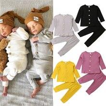 Мягкие трикотажные хлопковые осенние детские пижамы детская одежда для сна детские пижамы комплекты пижамы для мальчиков и девочек чистого цвета