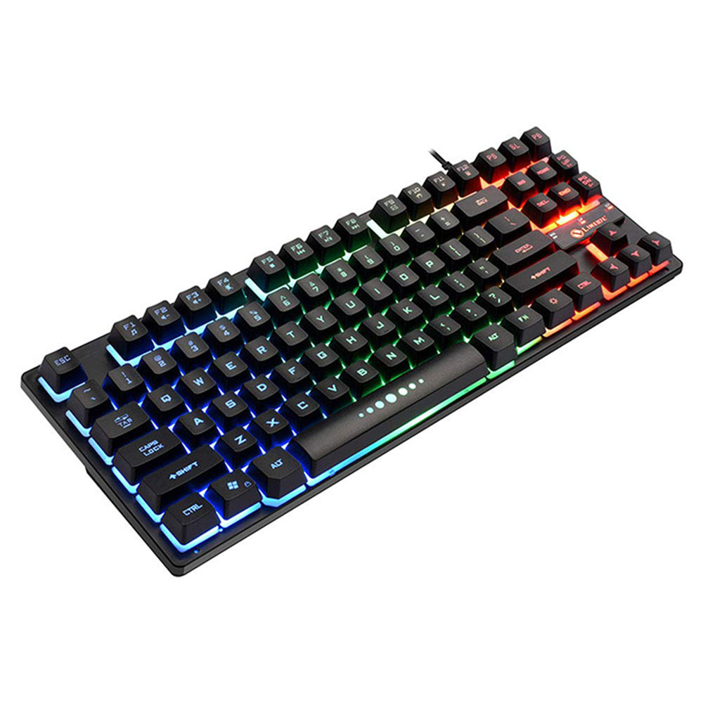 Mechanical Gaming Keyboard RGB Backlight Rainbow Switching Light USB Interface Keyboard Floating Button Design