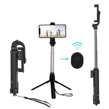 XT10 extendable wireless handheld selfie stick tripod photography control stick shutter control foldable self timer holder mount