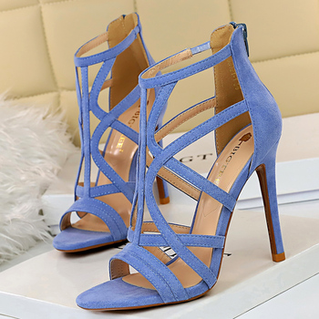 11cm  Roman Sandals Peep Toe Sandals High Heels 1