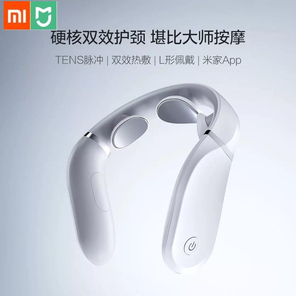 New Xiaomi Cervical Massager G2 TENS Pulse Protect the Neck Only  190g Double Effect Compress L Shaped Wear Work With Mijia AppSmart  Remote Control