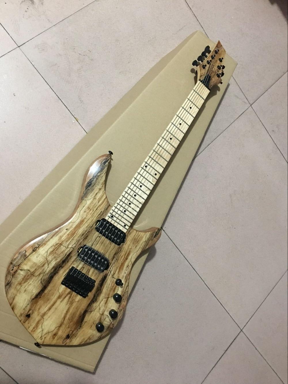 custom shop.New Style handwork  6 Strings Maple fingerboard  electric guitar.Natural wood color guitarra.black hardware