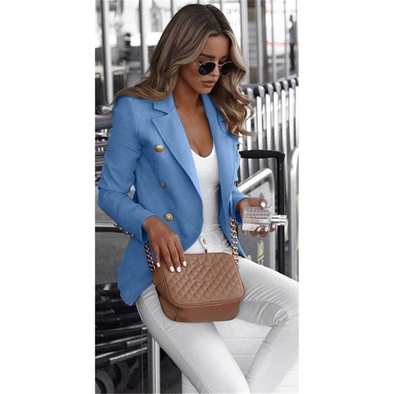 2020 Spring Single Breasted Women Blazer Long Sleeve Outwear Tops Jacket for Womens Plus Size Female Coat Blazers