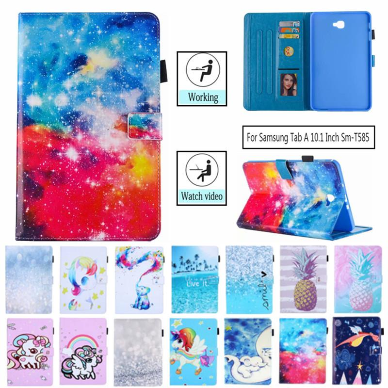 <font><b>Tablet</b></font> Case For <font><b>Samsung</b></font> <font><b>Galaxy</b></font> <font><b>Tab</b></font> <font><b>A</b></font> <font><b>10.1</b></font> <font><b>T580</b></font> SM-<font><b>T580</b></font> T585 <font><b>10.1</b></font> inch Smart Cover Cat Panda Flip Stand PU Leather Skin <font><b>Funda</b></font> image