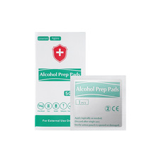 50pcs/Box New Hot Portable Alcohol Swabs Pads Wipes Antiseptic Cleanser Cleaning Sterilization First Aid Home Pads Makeup