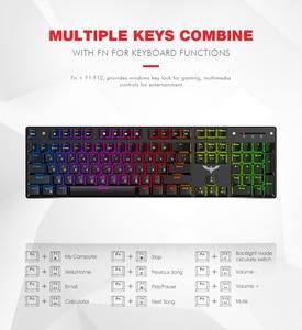 Image 4 - Gaming Mechanical Keyboard 87/104 keys Blue or Red Switch HAVIT Keyboards for Tablet Desktop Russian/US sticker