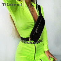 Tileewon Women Clothes Long Sleeve Autumn winter Dress Zipper High Neck bodycon Sexy Slim Casual Evening Party Tshirt Mini Dress