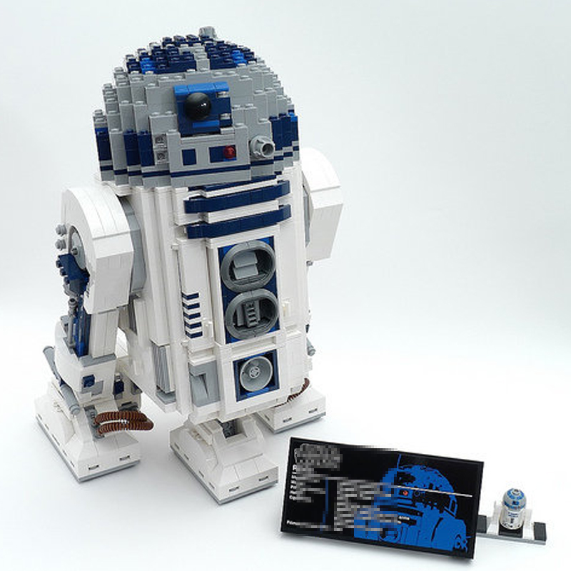 Lepining 05043 Star movie Wars Space Out of Print The R2-D2 Robot Model Blocks 2127pcs Bricks Toys Compatible lepinblocks 10225