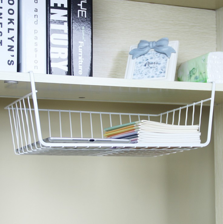 Multi-functional Metal Hanging Basket Kitchen Supplies Refrigerator Storage Basket Dormitory Household Storage Storage Rack