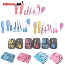 1 Set Newborn Baby Kids Nail Hair Health Care Thermometer Grooming Brush Kit New Design Nail Brush