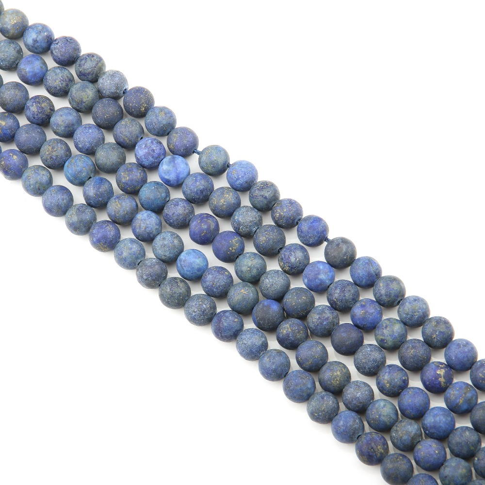 Matte Lapis Lazuli Natural Stone Beads Round Loose Beads Ball 4 6 8 10 12 Mm Fashion Jewelry Bracelet Making Accessories DIY in Beads from Jewelry Accessories