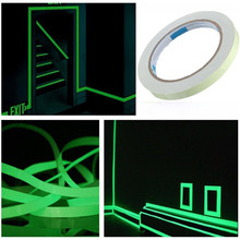 цены Luminous Tape 12MM 3M Self-adhesive Tape Night Vision Glow In Dark Safety Warning Security Stage Home Decoration Tapes