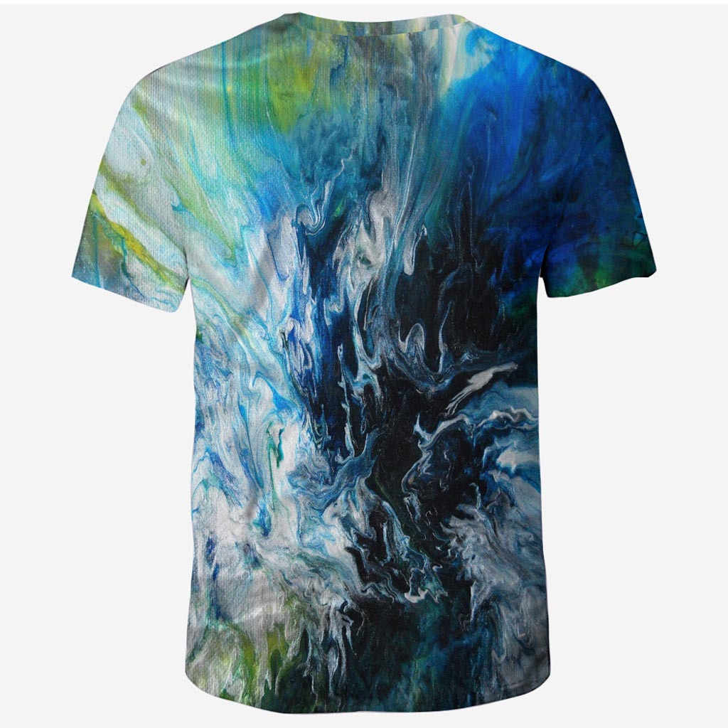 2020 Menyala Biru Kaos Pria Wanita T Shirt 3D T-shirt Tee Casual Top Anime Camiseta Streatwear Lengan Pendek Kaos