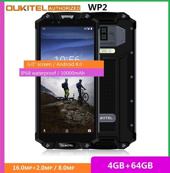 Перейти на Алиэкспресс и купить Смартфон OUKITEL WP2, 4G LTE мобильный телефон с NFC, 6-дюймовый экран 18:9, 4 ГБ ОЗУ 64 ГБ ПЗУ, восемь ядер, 10000 мАч, водозащита IP68, распознавание отпечатков ...