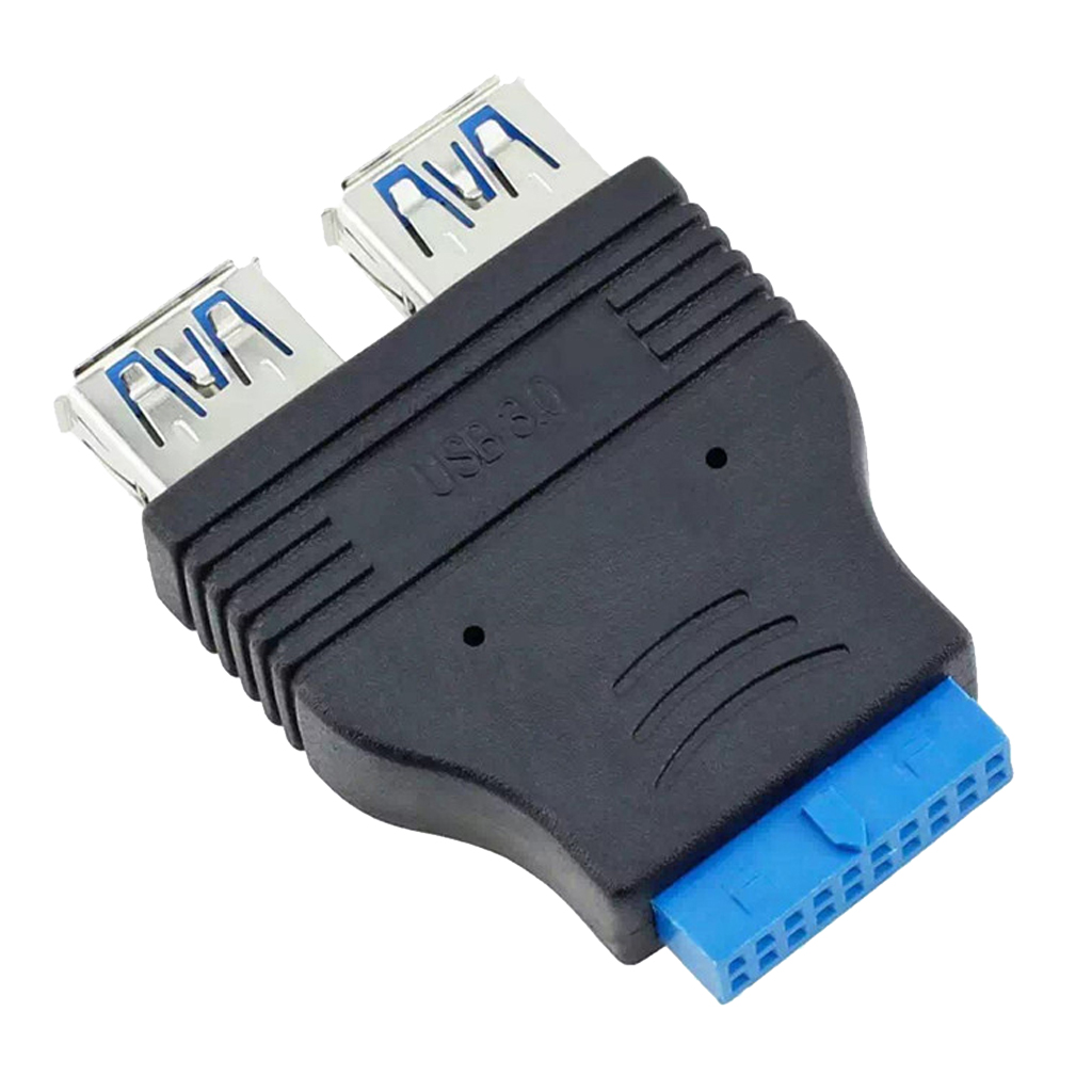 Dual Port USB 3.0 A Male To Motherboard Mainboard 20Pin Cable Adapter 19 Pin USB Extension