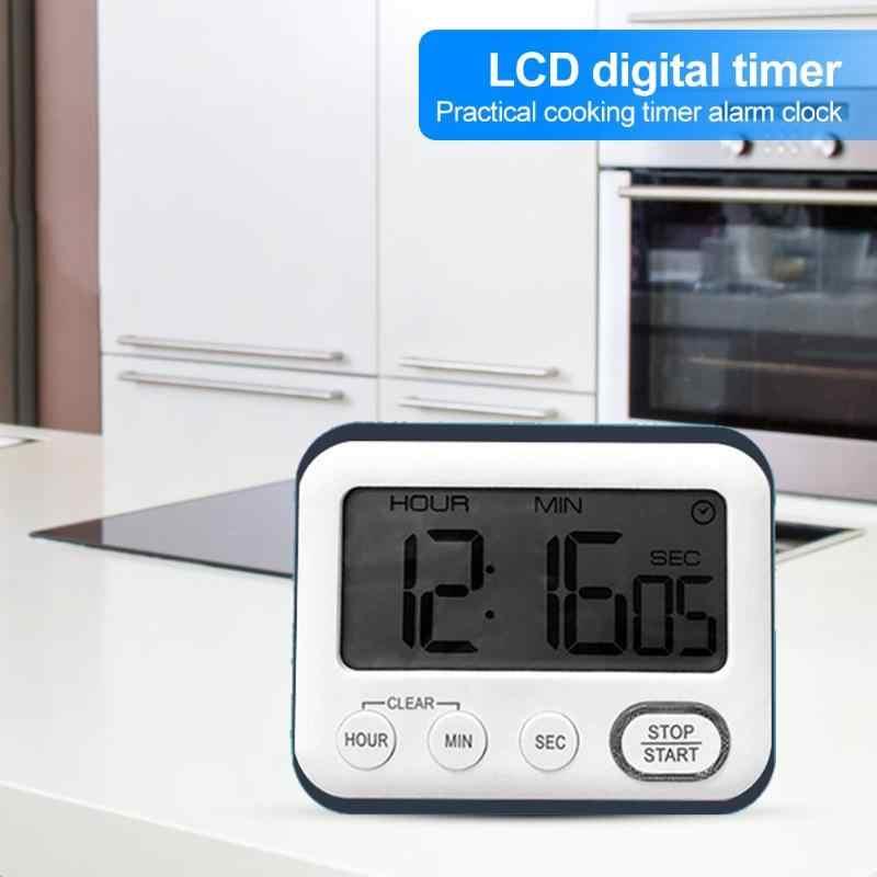 Cozinha temporizador de contagem regressiva lcd tela digital temporizador quadrado mudo cozinhar contagem regressiva despertador cozinha temporizador dropshipping