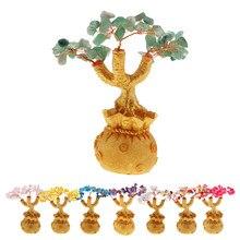 Feng Shui kryształowe drzewko szczęścia Bonsai styl bogactwo szczęście drzewo dekoracji wnętrz