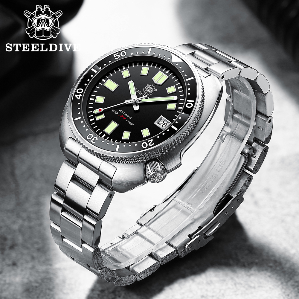 H09a27e3944e94fdfb18a1a8e25086c2eJ SD1970 Steeldive Brand 44MM Men NH35 Dive Watch with Ceramic Bezel