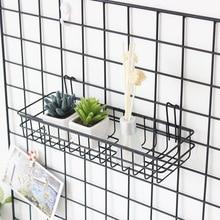 40CM Scandinavian Minimalist Grid Hanging Basket Storage Basket Iron Art Iron Wire Wall-mounted Basket Dormitory Storage Bask