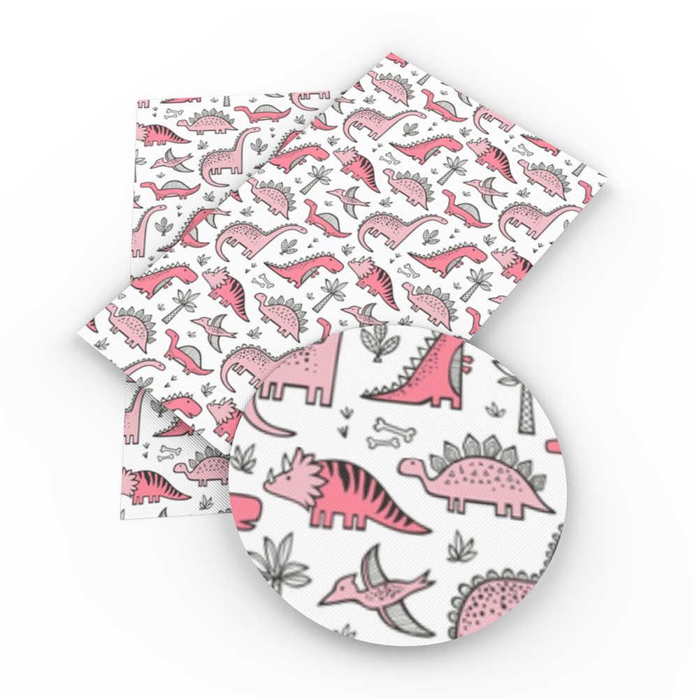 20*34cm Unicorn דינוזאורים טביעת רגל סינטטי עור בד, DIY בעבודת יד חומרים להכנת עגילים, 1Yc4028