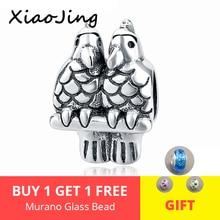 цена на 925 sterling Silver Birds animal Charms Beads Pendant Fit original pandora Bracelet beads Jewelry making for women Gifts