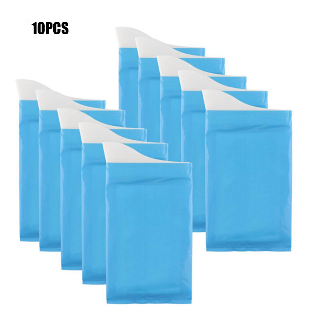 10PCS Disposable Outdoor Emergency Urine Bags Camping Pee Bag Urinal Toilet Traffic Jam Urinate Bags Portable Car Vomit Bag