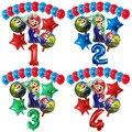 16 шт./компл. мультяшный рюкзак с принтом Супер Братья Марио и Луиджи шары набор 12 дюймов латексные 30 дюймов номер Globos День рождения украшения...