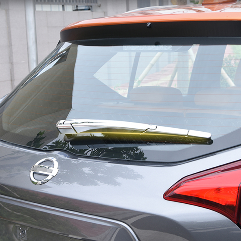 ABS Chrome  Rear Trunk Window Wiper Arm Blade Windscreen Wipers Cover For Nissan Kicks 2017 2018 2019 Accessories|Chromium Styling| |  - title=