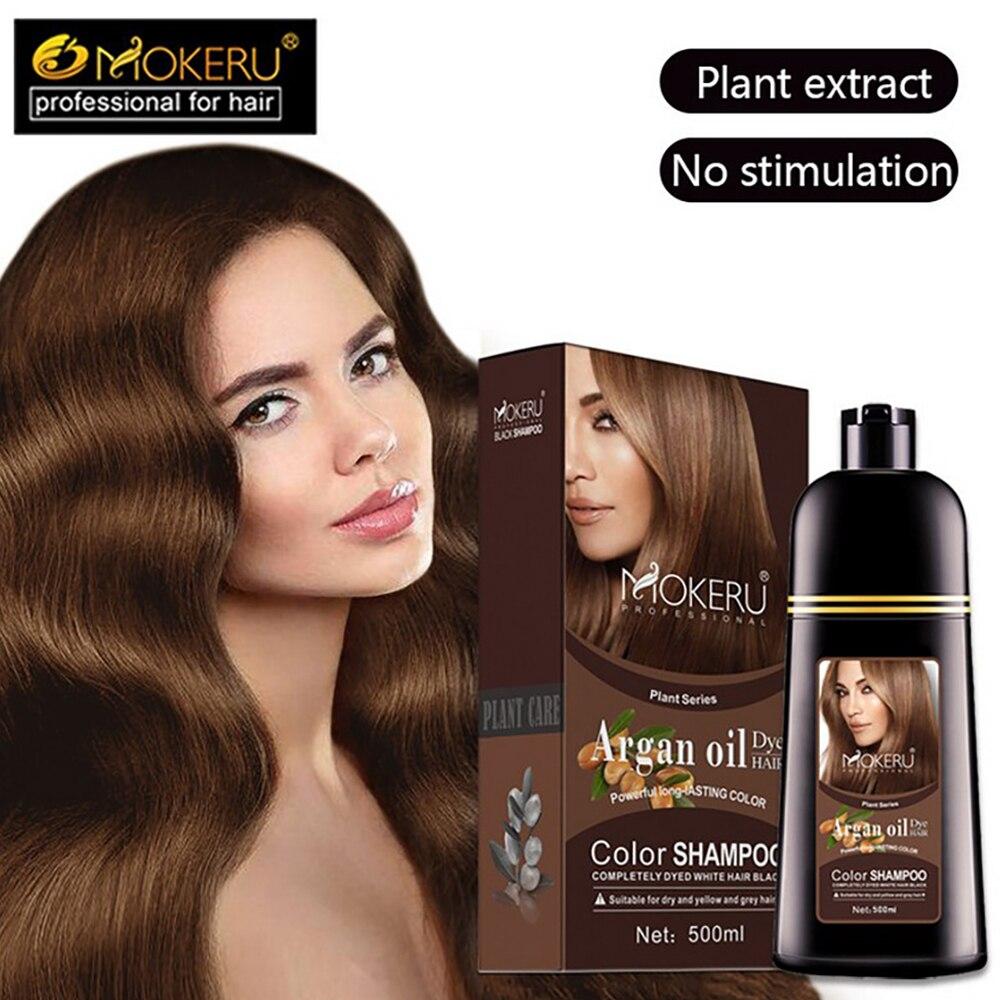 instantânea creme capa permanente cabelo coloração shampoo feminino