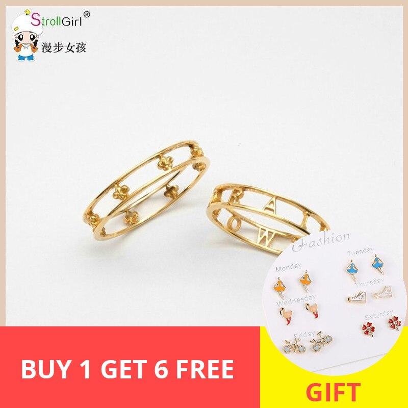 StrollGirl 925 Sterling Silver Personalized Slim Letter Ring Hollow Laser Engraved Name Wedding Date Rings For Women Custom Gift