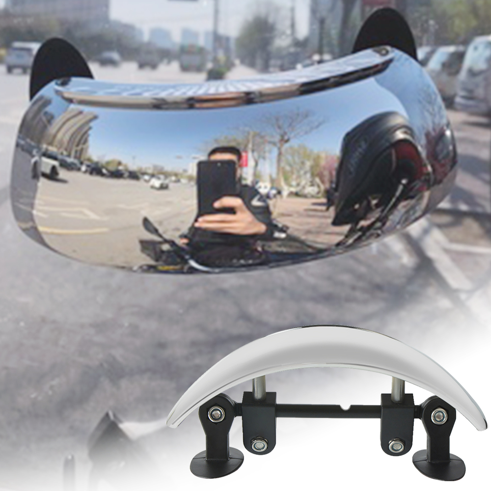 Universal Motorcycle Wide-angle Mirror 180 Degree Rearview Mirrors For Suzuki BURGMAN 650 400 125 200 AN650 AN400 AN125 AN200