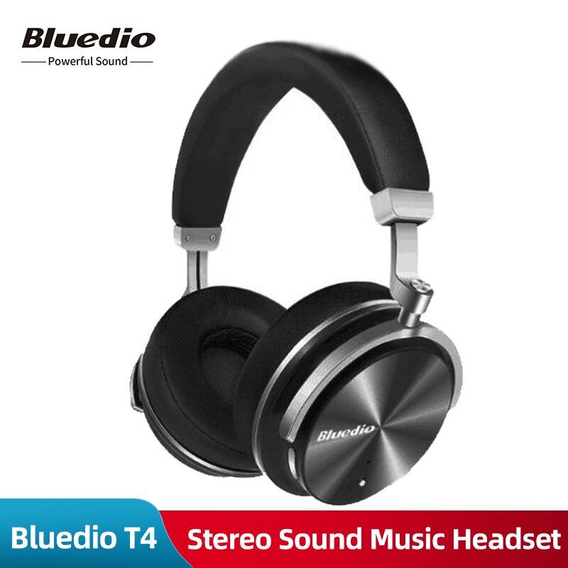 Оригинальные беспроводные наушники Bluedio T4, Bluetooth наушники с микрофоном, Bluetooth, стерео звук, музыкальная гарнитура для телефонов