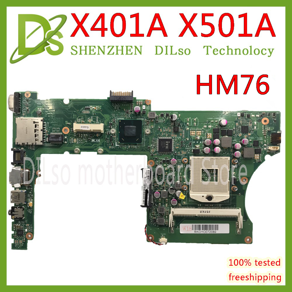 KEFU X401A HM70 For ASUS X301A X401A X501A Motherboard Original  X401A SLJ8E HM76 Support I3 I5 CPU Test Original