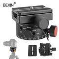 Neue panorama quick release stativ kopf mit knoten index rotator loch panorama blind spot schießen adapter für dslr kamera