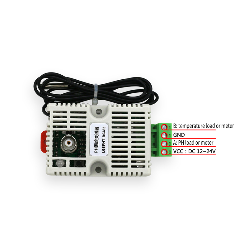 PH Value Temperature Transmitter Detection Sensor Module,4-20mA/0-10V/0-5V/RS485 Output+Electrode PH Temperature Transmitter