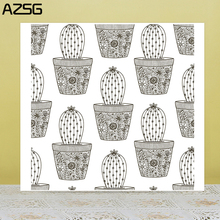 AZSG Potted Plant Cactus Clear Stamps For DIY Scrapbooking/Card Making/Album Decorative Silicone Stamp Crafts