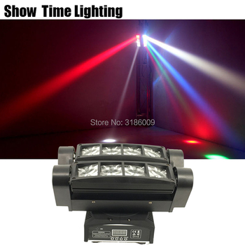 Powerful Mini Led Beam Spider Moving Head Light Disco led dj light use for party KTV bar show home entertainment dance can charge mini both head energy saving originality led to beam the lantern show meeting wireless move downlights lo463
