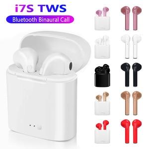 i7s TWS Wireless headphones Bluetooth Earphones With microphone charging box Earpiece sport Headset charging box For iphone